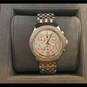 Michele belmore two-tone bracelet watch